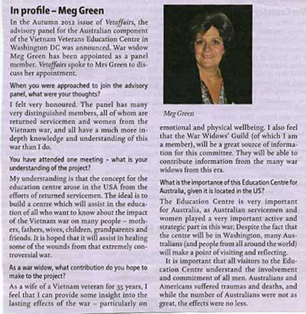 Incl Profile Meg Green